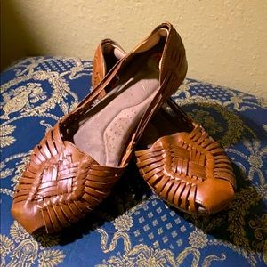 Natural Soul Woven Leather Shoes